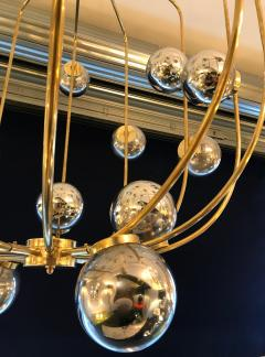 Contemporary Chandelier Brass Cage Italy - 523661