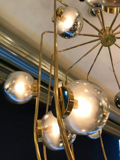 Contemporary Chandelier Brass Cage Italy - 523664