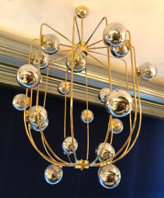 Contemporary Chandelier Brass Cage Italy - 523665
