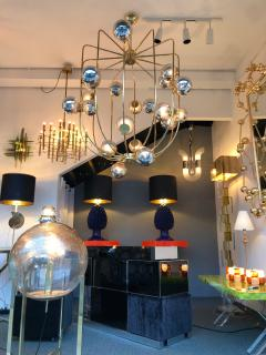 Contemporary Chandelier Brass Cage Italy - 523666