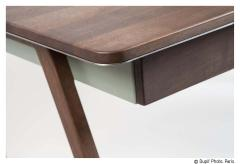 Contemporary Desk in French Walnut and Metal Jean Collection - 1598822