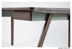 Contemporary Desk in French Walnut and Metal Jean Collection - 1598824