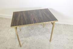 Contemporary End Table in Ziricote and Brass Hammered Collection - 1696511