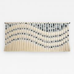 Contemporary Geometric Artisian Raw Cotton South American Sculpture Tapestry - 2077737