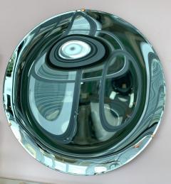 Contemporary Green Curve Mirror Italy - 1600496