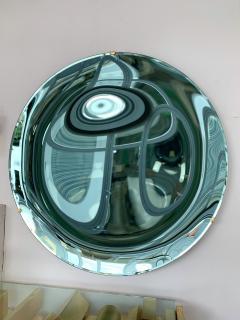 Contemporary Green Curve Mirror Italy - 1600498