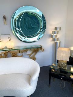 Contemporary Green Curve Mirror Italy - 1600499