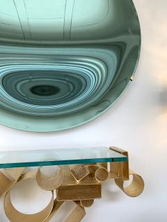 Contemporary Green Curve Mirror Italy - 1600504