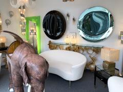 Contemporary Green Curve Mirror Italy - 1600505