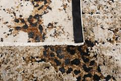 Contemporary Hand Knotted Leopard Wool and Silk Rug in Brown Cream and Black - 1391536