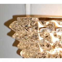 Contemporary Italian Brass Crystal Rostrato Textured Murano Glass Sconces - 1902815