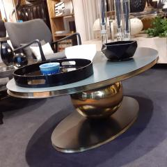Contemporary Italian Iron and Brass Coffee Table or Center Table - 2042443