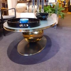 Contemporary Italian Iron and Brass Coffee Table or Center Table - 2042445