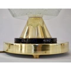 Contemporary Italian Pair of Diamond Cut Black and Crystal Murano Glass Lamps - 1016467