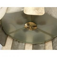 Contemporary Italian Scavo Gray Ivory Murano Glass Organic Flushmount Chandelier - 1146236