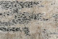 Contemporary Leopard Wool and Silk Wool Rug in Gray Cream and Black - 1406445