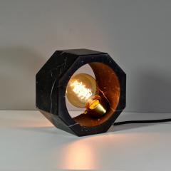 Contemporary Matlight Octagon Minimalist Table Lamp in Black Marquina Marble - 1602933