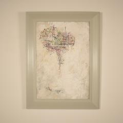 Contemporary Modern Abstract Acrylic on Carton Framed Painting - 639165