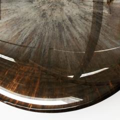 Contemporary Modern Unique Sculptural Concave Brown Glass French Mirror - 1591460