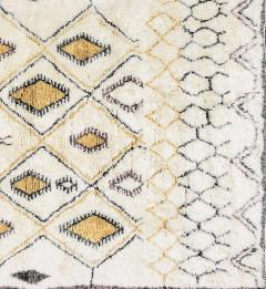 Contemporary Moroccan Ivory and Multi Color Wool Rug with Tribal Pattern - 1409984
