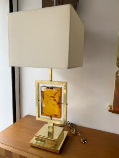 Contemporary Pair of Brass Lamps Murano Glass Italy - 1512093