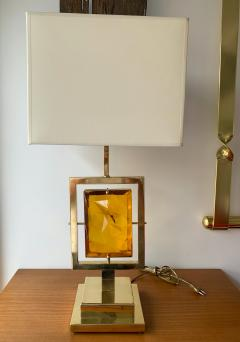 Contemporary Pair of Brass Lamps Murano Glass Italy - 1512095