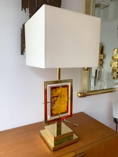 Contemporary Pair of Brass Lamps Murano Glass Italy - 1512099