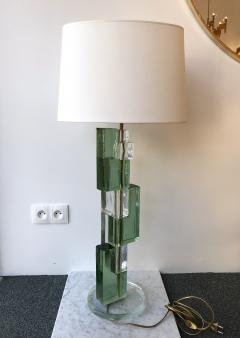 Contemporary Pair of Lamps Cubic Murano Pressed Glass Italy - 543884