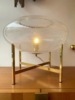 Contemporary Pair of UFO Brass and Murano Glass Lamps - 1512150