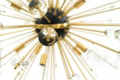 Contemporary Sputnik Chandeliers Comprised of Gilt Metal Rods - 917876