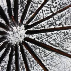 Contemporary Wood Sculpture Paras l ne Blanc - 1598786