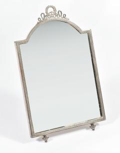 Continental silver plated dressing table mirror - 1281806