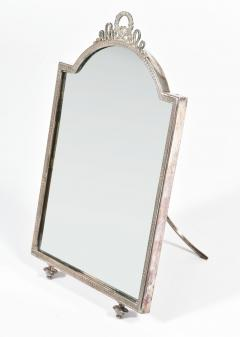 Continental silver plated dressing table mirror - 1281807
