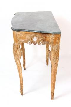 Continential Louis XV Style Marble Top Console Table - 284198
