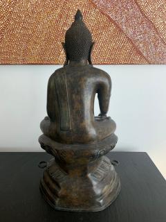 Copper Alloy Medicine Buddha Statue Southeast Asia - 1118180