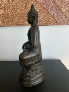 Copper Alloy Medicine Buddha Statue Southeast Asia - 1118181