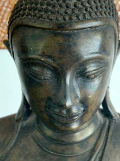 Copper Alloy Medicine Buddha Statue Southeast Asia - 1118184