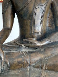 Copper Alloy Medicine Buddha Statue Southeast Asia - 1118186