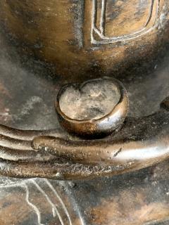 Copper Alloy Medicine Buddha Statue Southeast Asia - 1118187