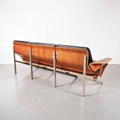 Cornelis Zitman 1964s Rare Cornelis Zitman Three Seat Leather Sofa - 824465