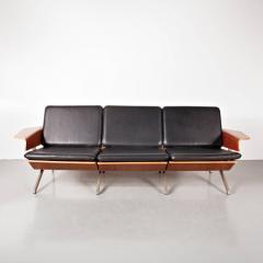 Cornelis Zitman 1964s Rare Cornelis Zitman Three Seat Leather Sofa - 824466