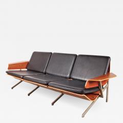 Cornelis Zitman 1964s Rare Cornelis Zitman Three Seat Leather Sofa - 825485
