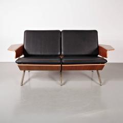 Cornelis Zitman 1964s Rare Cornelis Zitman Two Seat Leather Sofa - 824456