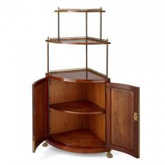 Corner cabinet with tiered shelf - 1433149