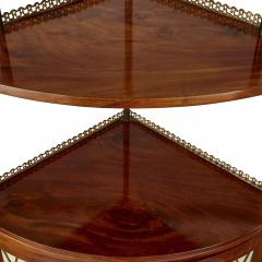 Corner cabinet with tiered shelf - 1433151