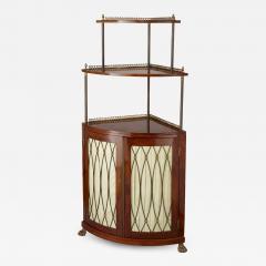 Corner cabinet with tiered shelf - 1433433