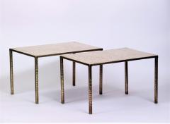 Costa Coulentianos Pair of Bronze Side Tables - 537935