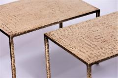 Costa Coulentianos Pair of Bronze Side Tables - 537965