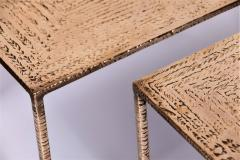 Costa Coulentianos Pair of Bronze Side Tables - 537966