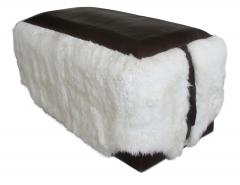 Costantini Design Ovino Contemporary Leather and Sheepskin Bench from Costantini Customizable - 406231